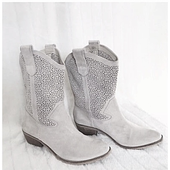 BCBGeneration Shoes - BCBGeneration Perforated Suede Laser Cut Boots